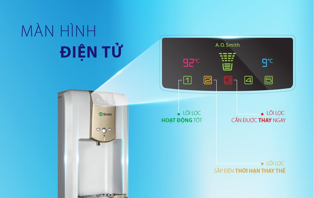 Máy lọc nước nóng lạnh A.O.Smith ADR75-V-ET-1 tích hợp hệ thống điện tử EPM hiện đại, chính xác