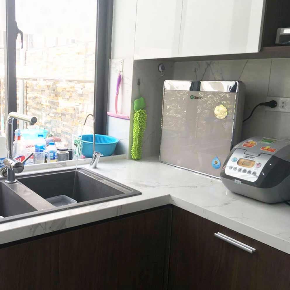 Hình ảnh thực tế lắp đặt của máy lọc nước Ao Smith U3