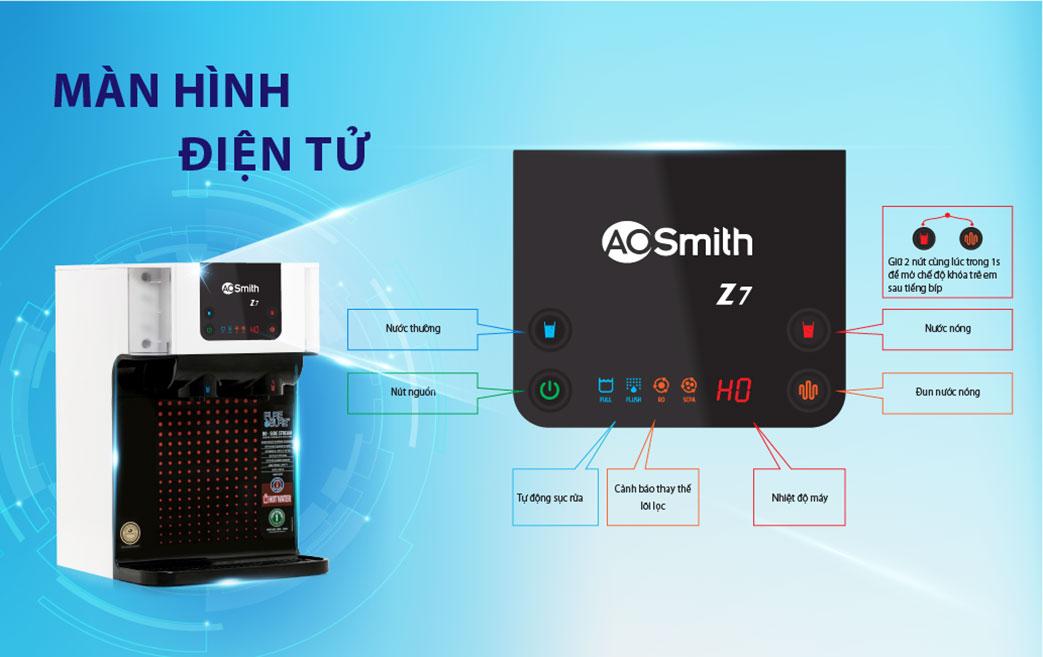 Màn hình điện tử hiện đại, thông minh được tích hợp trong máy Z7