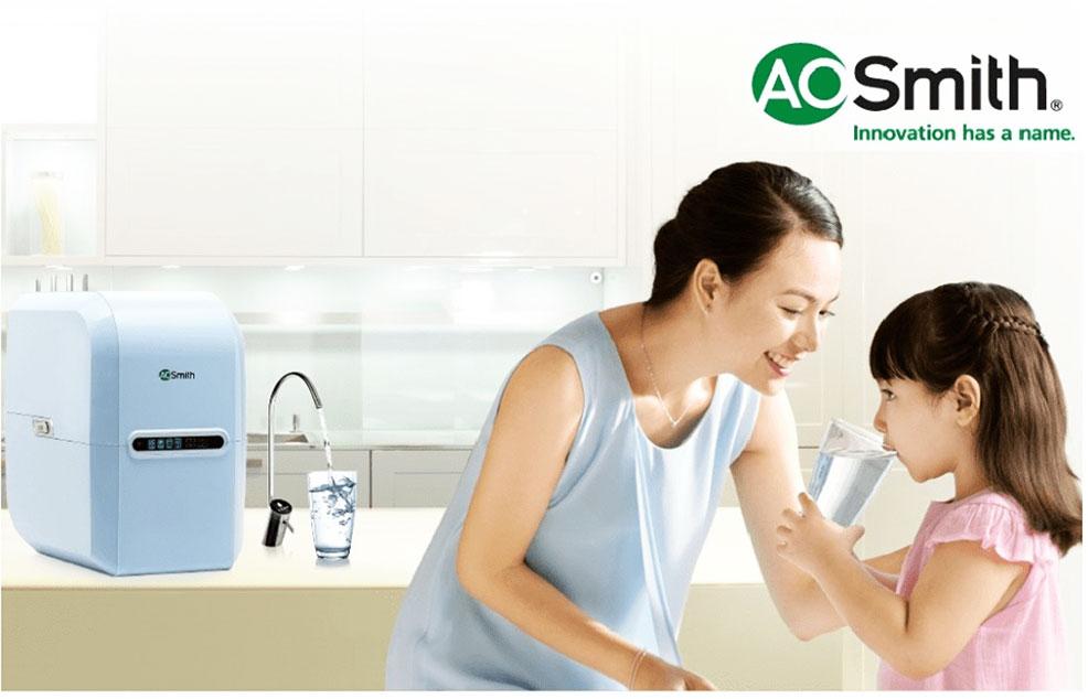 Máy lọc nước AoSmith A2 đạt chuẩn uống trực tiếp an toàn của Mỹ
