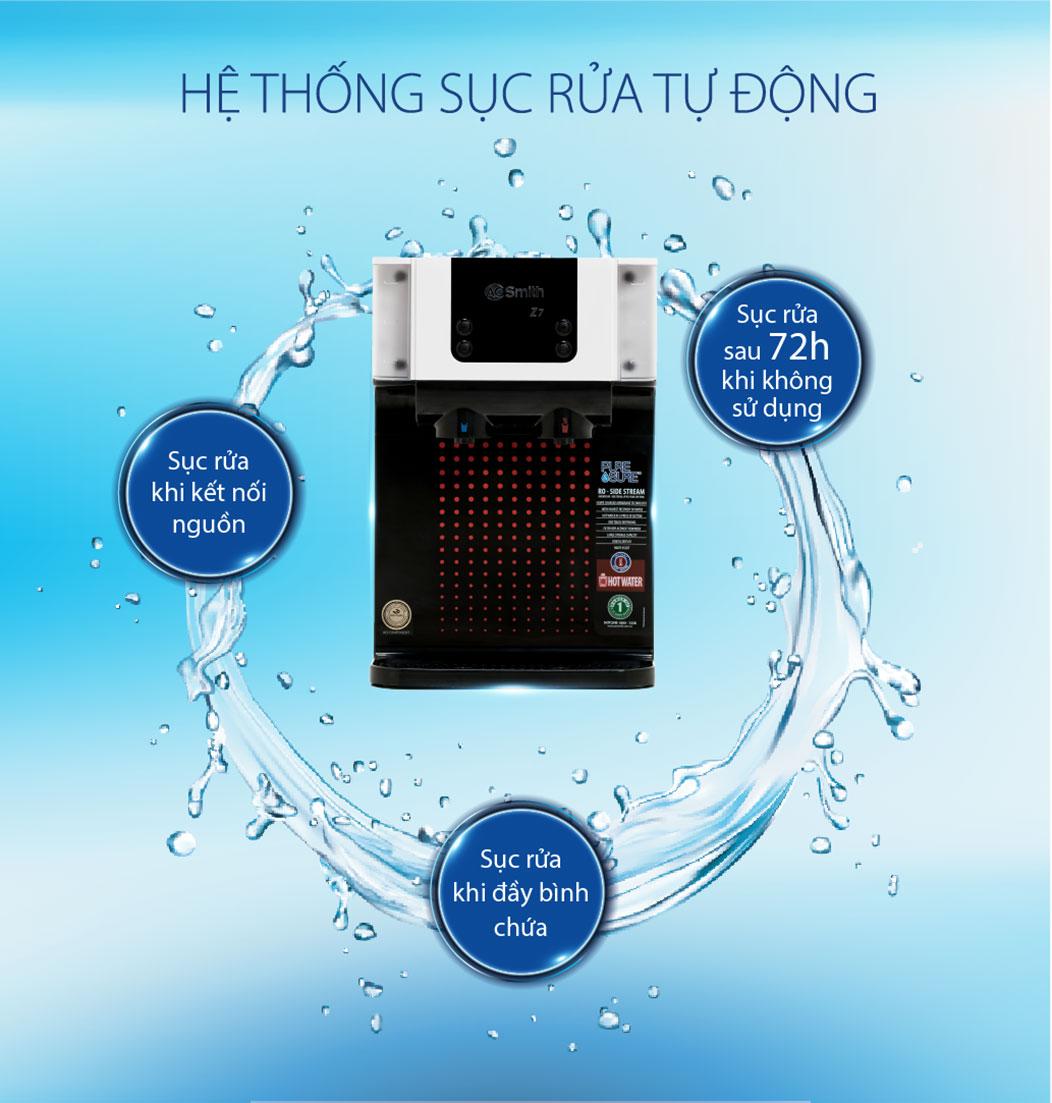 Hệ thống tự động sục rửa trong máy Z7 giúp tăng tuổi thọ của máy được lâu hơn