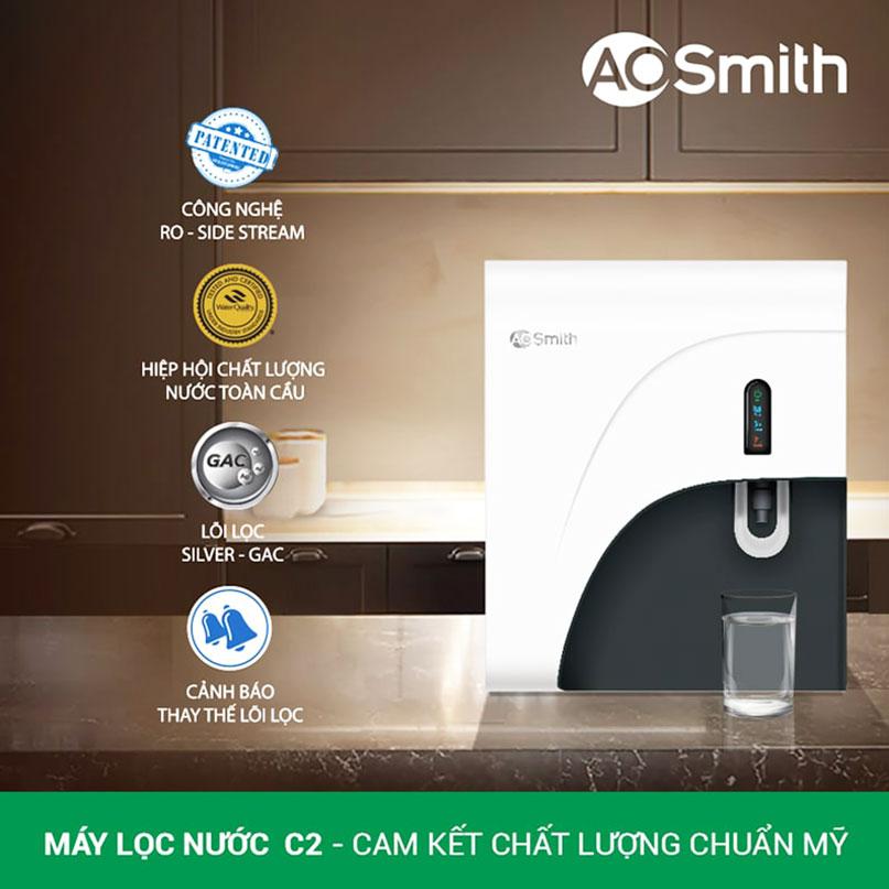Các tính năng nổi bật của máy lọc Ao Smith C2