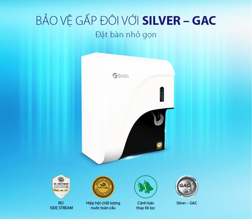 Máy lọc Aosmith C2 bảo vệ gấp đôi với lõi lọc Silver - GAC