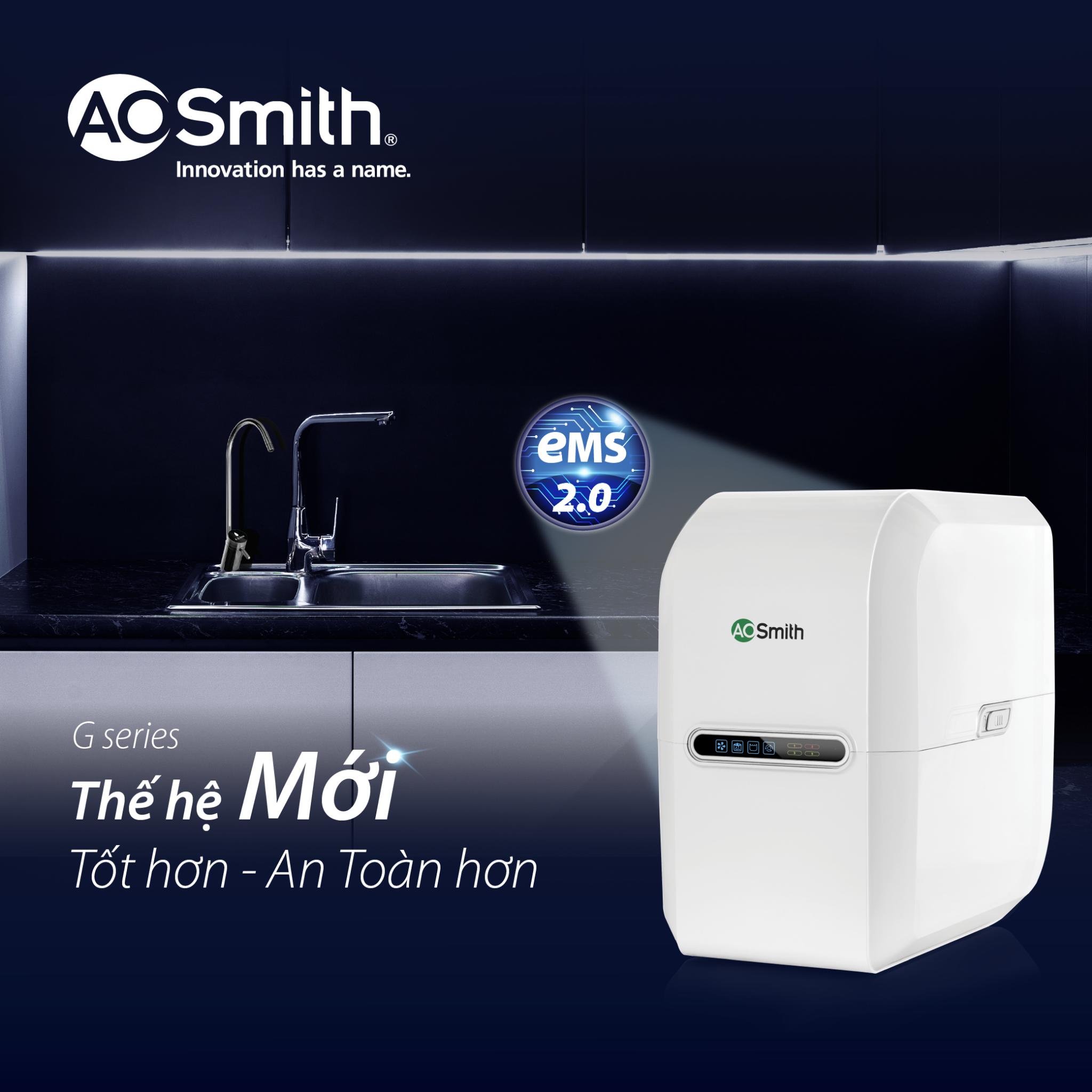 Model AOsmith G1 thế hệ mới tốt hơn, an toàn hơn