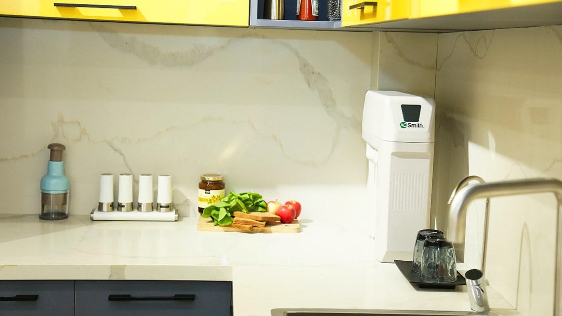 Hình ảnh thực tế lắp máy lọc nước Aosmith R400E