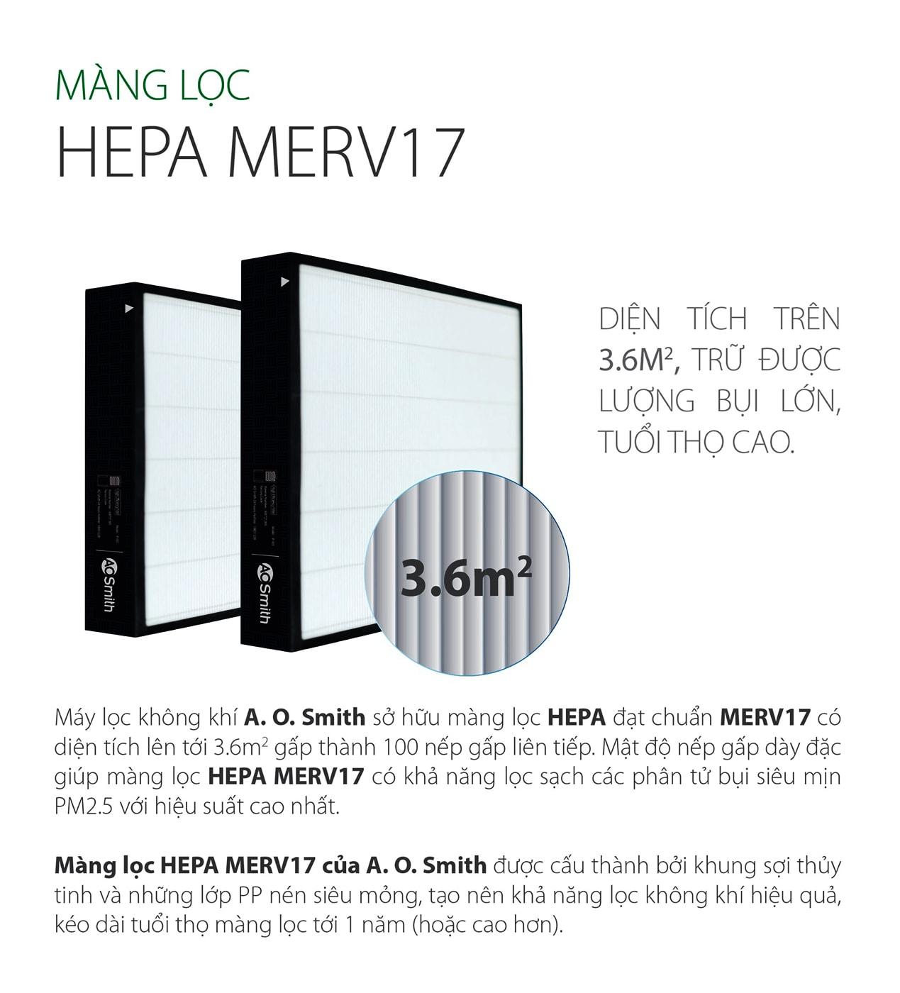 Máy lọc KJ420 - B01 áp dụng màng lọc HEPA cao cấp tiêu chuẩn MERV17