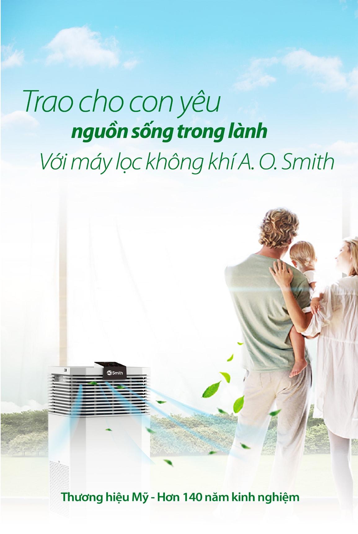 Lọc không khí A.O.Smith KJ420F-B01 là một sản phẩm mang thương hiệu Mỹ với gần 150 năm kinh nghiệm