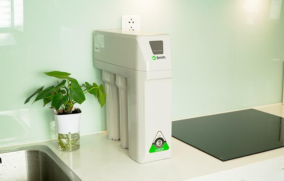 Hình ảnh thực tế máy lọc nước AoSmith R400S đã được lắp