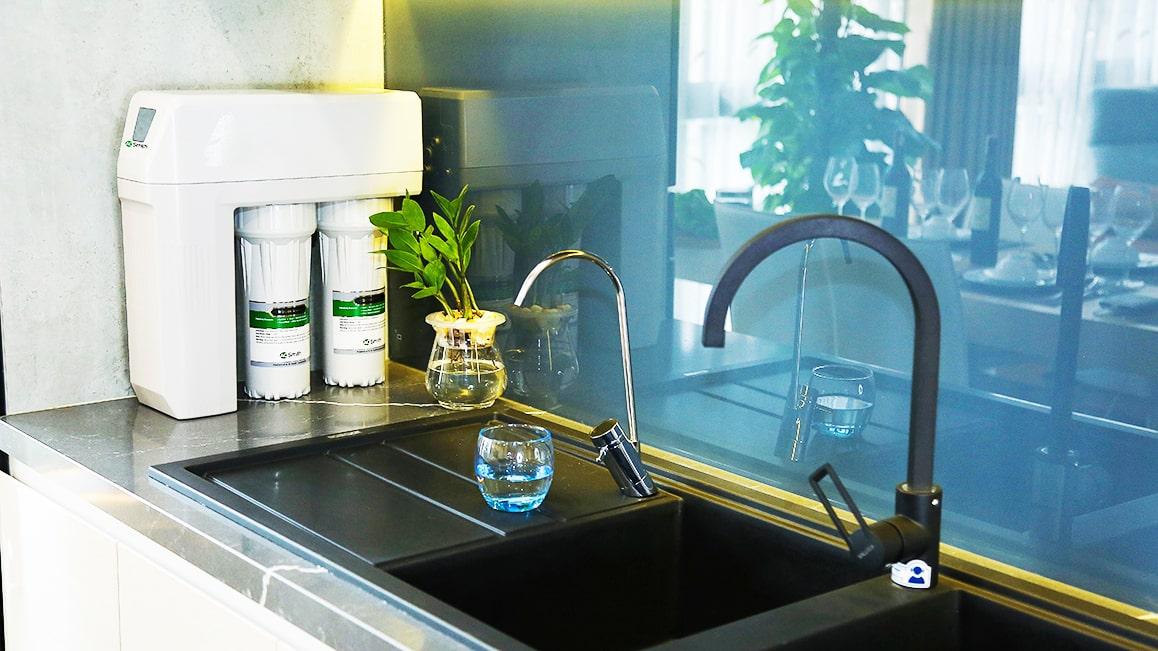 Hình ảnh thực tế máy lọc nước AoSmith R400S đã được lắp đặt