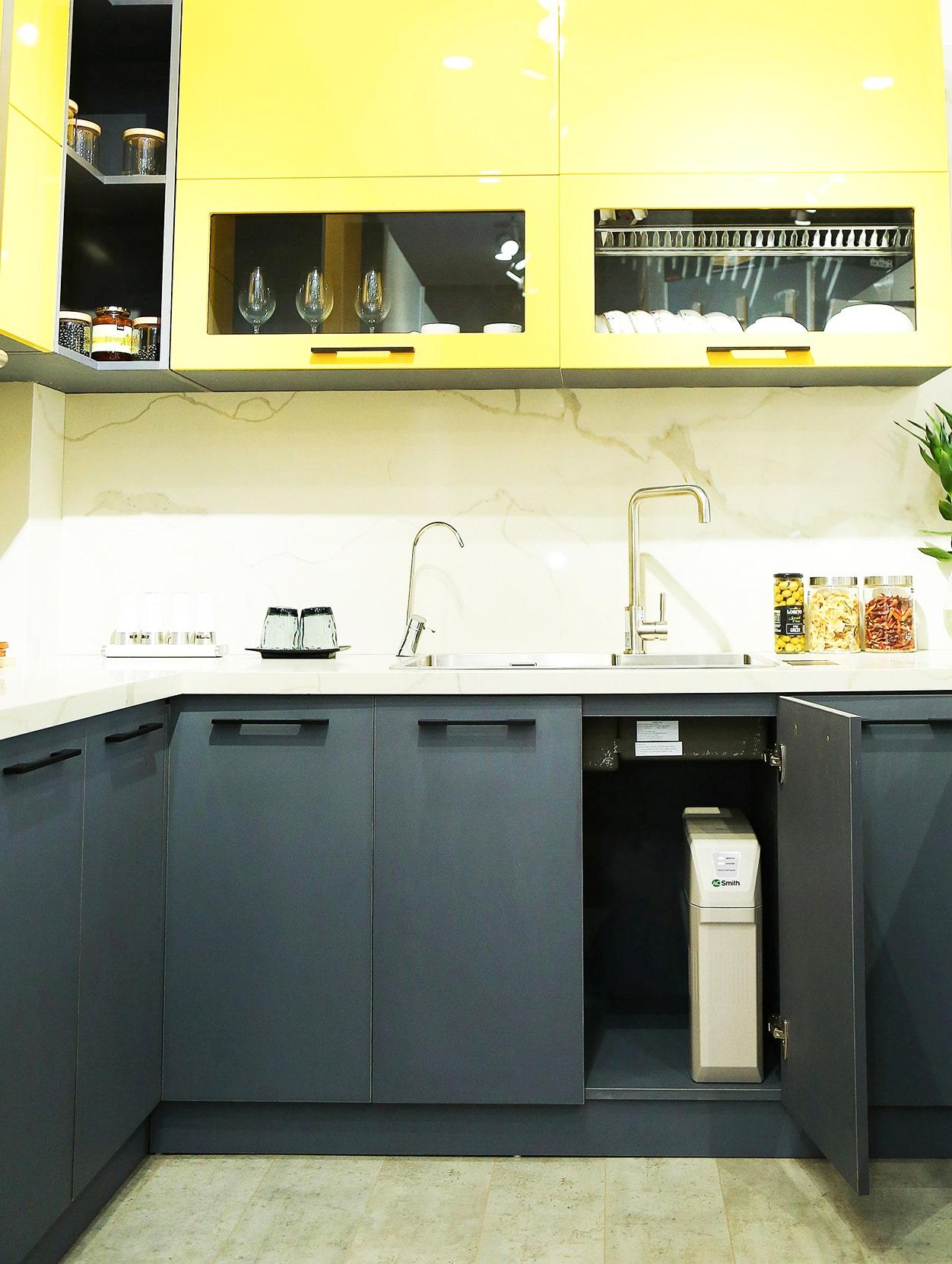 Hình ảnh thực tế máy lọc nước AoSmith R400S đã được lắp đặt hoàn chỉnh
