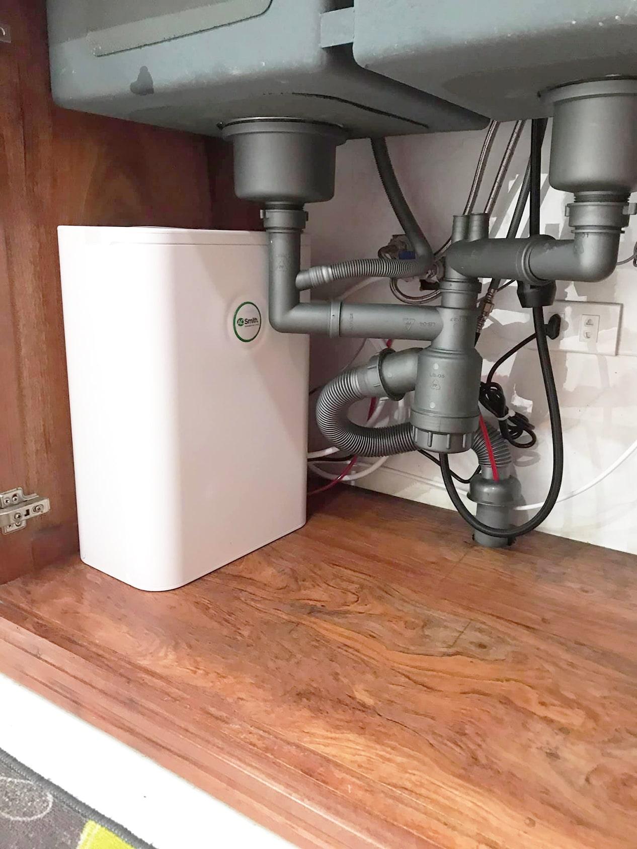 Hình ảnh thực tế máy lọc nước AoSmith S600 đã được lắp đặt