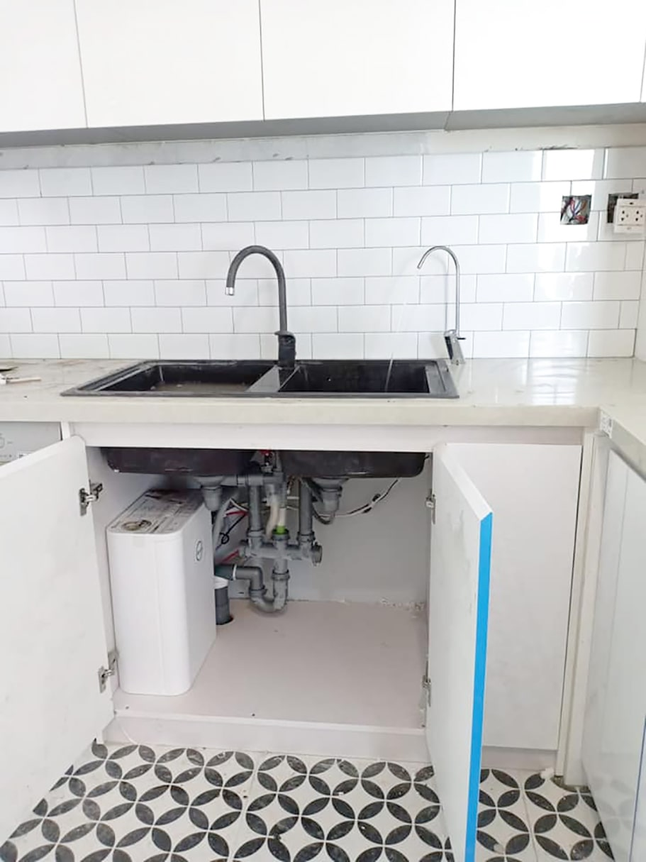 Hình ảnh thực tế máy lọc nước AoSmith S600 đã được lắp đặt hoàn chỉnh