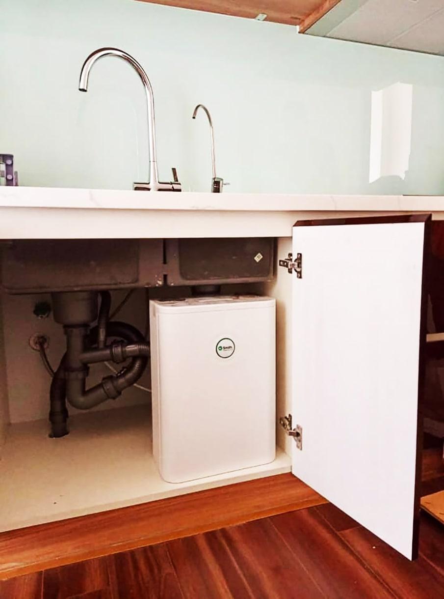 Hình ảnh thực tế máy lọc nước AoSmith S600 đã được lắp đặt hoàn tất