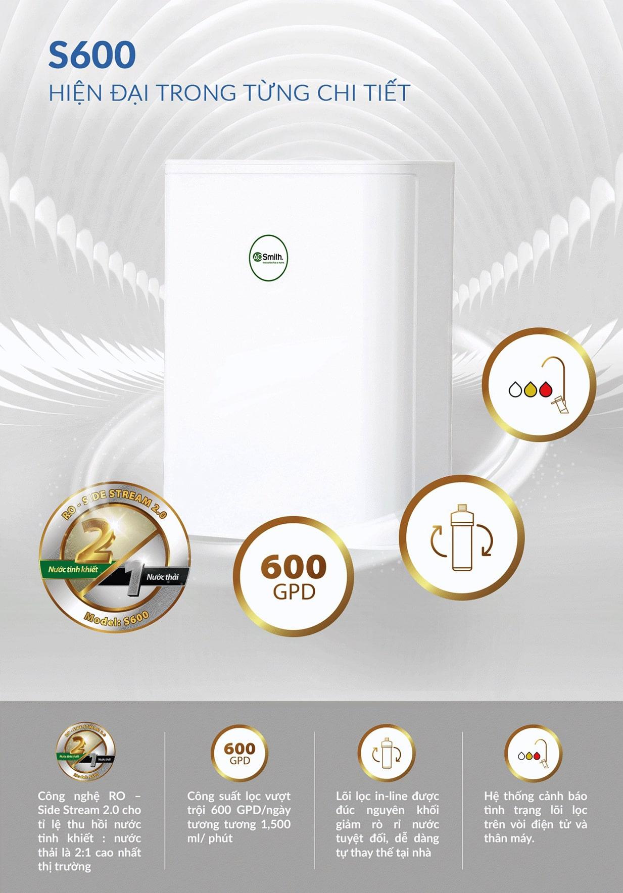 AoSmith S600 chiếm được cảm tình của số đông người tiêu dùng